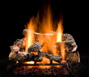 Rustic Timber Vented Gas Log Set | WoodlandDirect.com: Fireplace