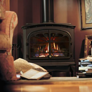 The Tiara II is a robust heater, with a good viewing area, and glowing logs inside. Order Today!