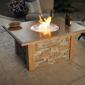 Outdoor Great Room Gas Fire Pit Table. Check out our Outdoor Living products at NW Natural Appliance Center in Portland Oregon