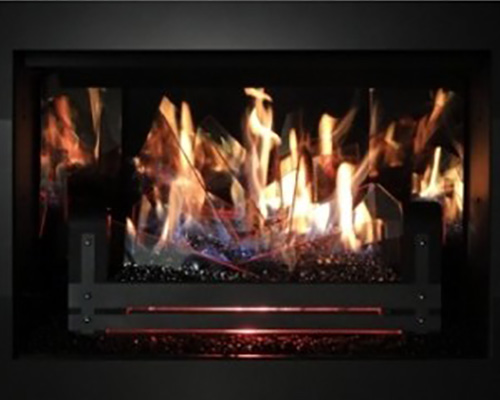 Stellar Hearth Glass Merlin Gas Logs