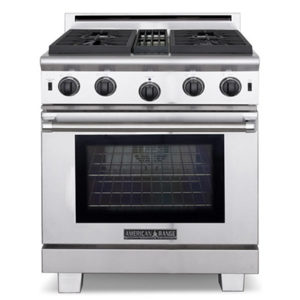 The American Range Performer Series Gas Range has some of the most powerful gas surface burners in the industry. Learn More Tody at NW Natural Appliance Center of Portland!