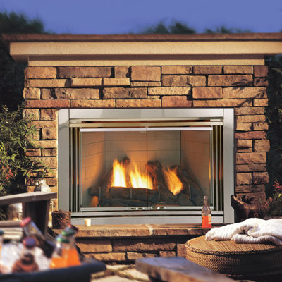 Heat & Glo Dakota Outdoor Gas Fireplace. Ask about our Outdoor Living appliances at NW Natural Appliance in Portland Oregon