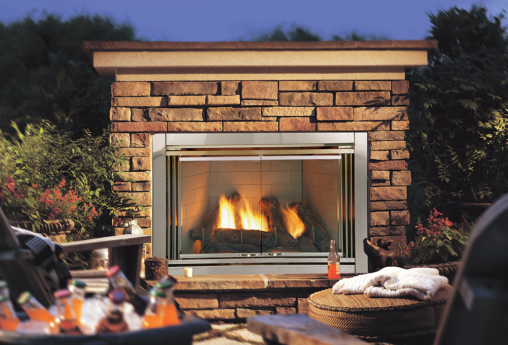 The Heat & Glo Dakota Outdoor Gas Fireplace is weatherproof and comes with its own log set & IntelliFire Auto-Ignition system. Learn More Today!