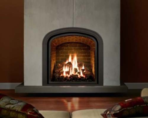The Greenbriar with the Ashton front in classic cast iron installs flush to the floor. Order Today!