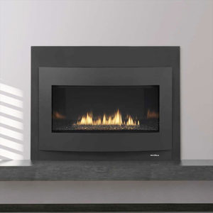 The unique reflective black glass refractory linear magnifies the ribbon of flames into multiple images. Learn More!