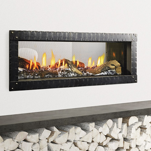 Heat glo mezzo zero clearance fireplace nw natural for Through fireplace