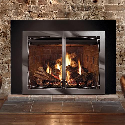 Mendota Fv44i Gas Fireplace Insert W Basix Front Nw