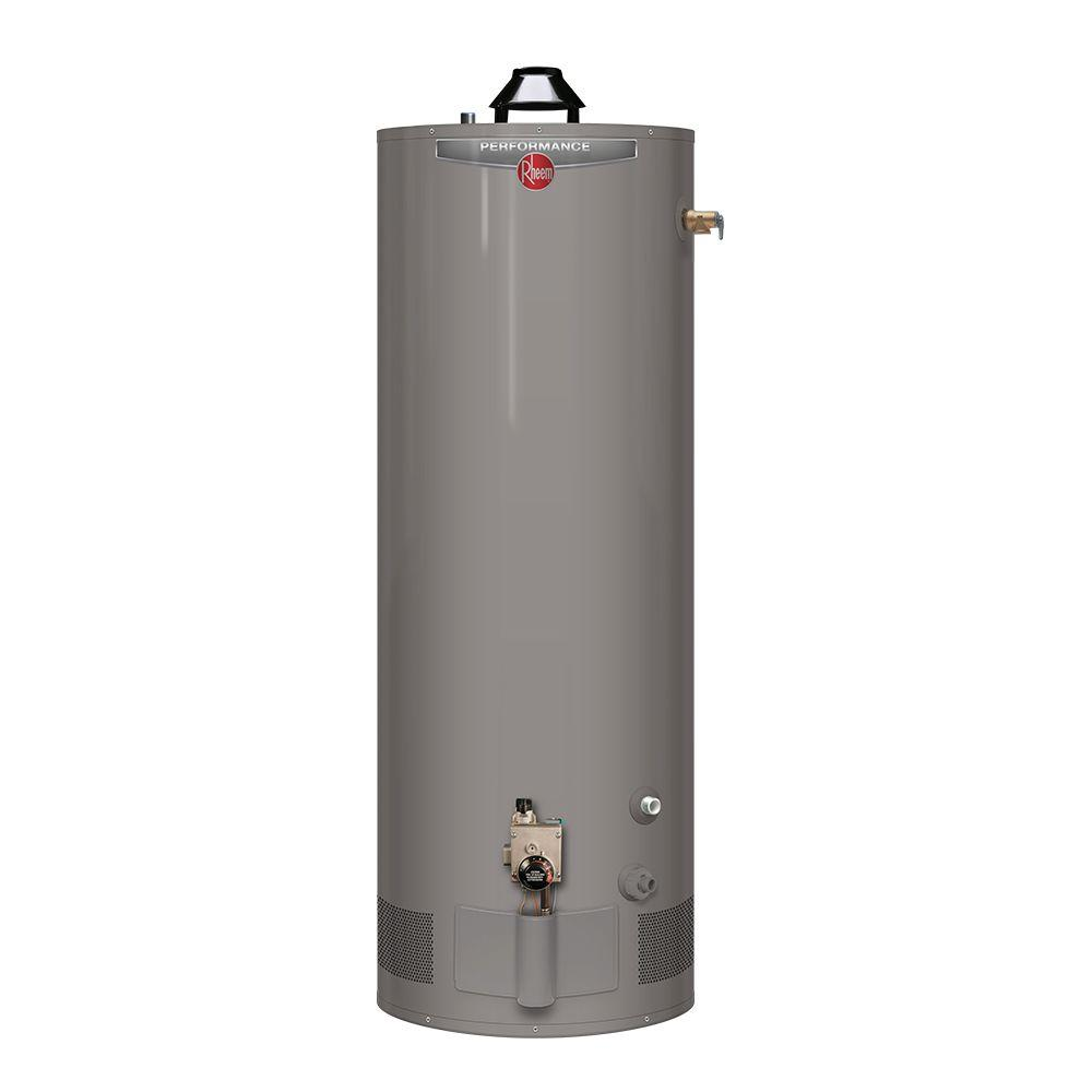 Rheem Energy Star Rated Efficient Gas Tank Water Heater