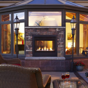 Heat & Glo Modern Outdoor Fireplace. Check out our Outdoor Living products at NW Natural Appliance Center in Portland