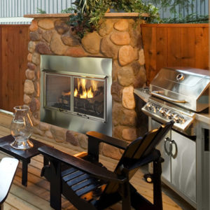 Heat & Glo Villa Gas Outdoor Fireplace