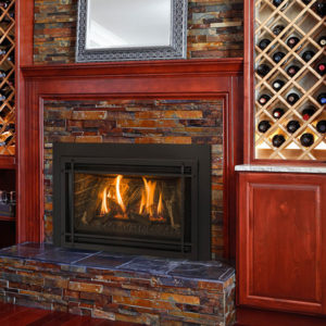 The Kozy Heat Chaska 29L Gas Fireplace Insert Can be ordered with a Glass Media, Log Set, or Rock Set Model Today!