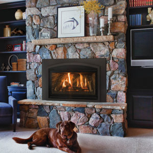 The Kozy Heat Chaska 29MV Gas Fireplace Insert can be ordered with either a Rock Set, Glass Media, or Log Set Model. Ask Our Representatives Today!