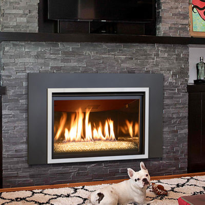 Our Kozy Heat Chaska 34G Gas Fireplace Insert can be ordered along with a Rock Set, Log Set, or Glass Media Model.