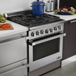 "Don't let your limited space limit your cooking potential. Learn More Today about how NW Natural's DCS 30"" 5 Burner Gas Range is perfect for your place!"