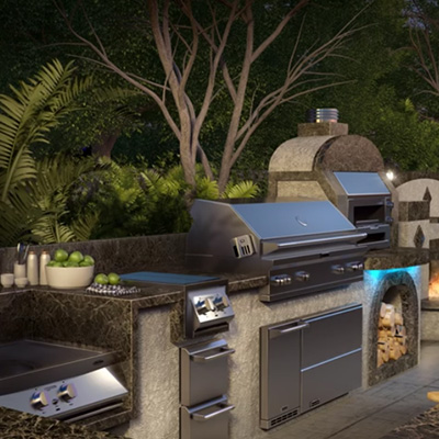 Outdoor Entertainment Designs Grill Islands. Ask about our Outdoor Living products at NW Natural Appliance of Portland, Oregon today!