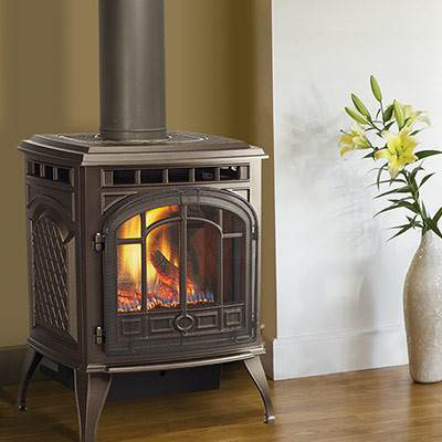 Gentil Quadra Fire Sapphire Freestanding Gas Fireplace | NW Natural Appliance  Center