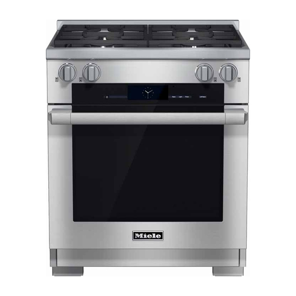 Miele 30 Quot Dual Fuel Range Hr1924df Nw Natural Appliance